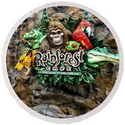 Rain Forest Cafe Signage Walt Disney World Round Beach Towel