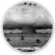 Rain Of Ruin Round Beach Towel