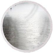 Rain On The Flint Round Beach Towel