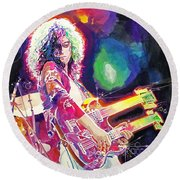 Rain Song Jimmy Page Round Beach Towel