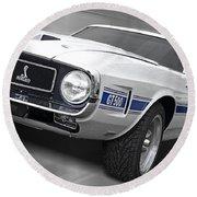 Rain Won't Spoil My Fun - 1969 Shelby Gt500 Mustang Round Beach Towel