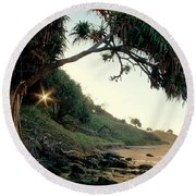 Rainbow Beach Round Beach Towel