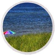 Rainbow Beach Umbrella Round Beach Towel
