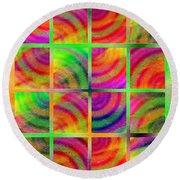 Rainbow Bliss 3 - Over The Rainbow V Round Beach Towel