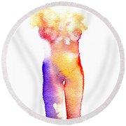 Rainbow Body Of Light Round Beach Towel
