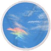 Rainbow Cloud Round Beach Towel