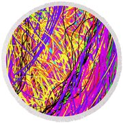 Rainbow Divine Fire Light Round Beach Towel