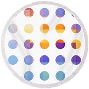Rainbow Dots  Round Beach Towel