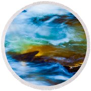 Rainbow Dreams Round Beach Towel