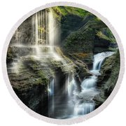 Rainbow Falls Square Round Beach Towel