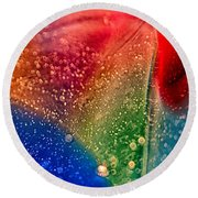Rainbow Fishtail Round Beach Towel