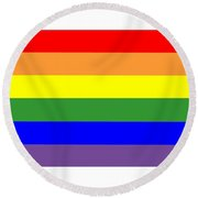 Rainbow Flag Round Beach Towel