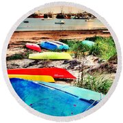 Rainbow Fleet Round Beach Towel