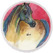 Rainbow Horse 2013 11 17 Round Beach Towel