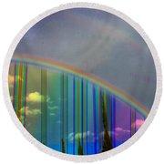 Rainbow Landscape Round Beach Towel
