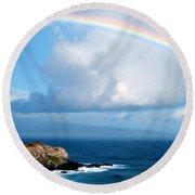 Rainbow Maui Hawaii Round Beach Towel