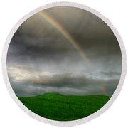 Rainbow Over The Mahoosucs Round Beach Towel