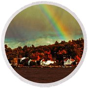 Rainbow Over Winnipesaukee Two Round Beach Towel