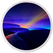 Rainbow Pathway Round Beach Towel