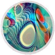 Rainbow Play Round Beach Towel by Anastasiya Malakhova