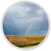 Rainbow Promise Round Beach Towel
