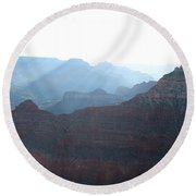 Rainbow Ridges Round Beach Towel