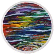 Rainbow Ripple Round Beach Towel