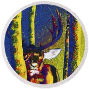 Rainbow Rut Round Beach Towel