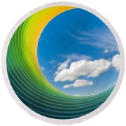 Rainbow Sky 2 Round Beach Towel