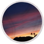 Rainbow Sky Round Beach Towel