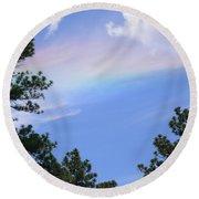 Rainbow Sky Round Beach Towel