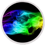 Rainbow Smoke Round Beach Towel