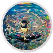 Rainbow Splash Round Beach Towel