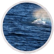 Rainbow Spout Round Beach Towel