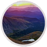 Rainbow Sunrise Round Beach Towel