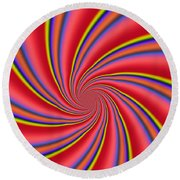 Rainbow Swirls Round Beach Towel