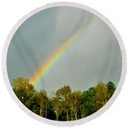Rainbow To The Clouds Round Beach Towel
