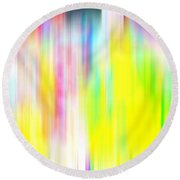 Rainbow Unleashed Round Beach Towel