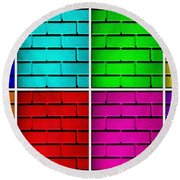 Rainbow Walls Round Beach Towel