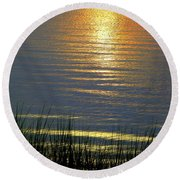 Rainbow Waters Round Beach Towel