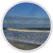 Rainbow Wave Seaside New Jersey Round Beach Towel