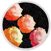 Raindrops On Roses - My Favorite Things Round Beach Towel