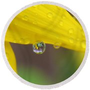 Reflection In The Rain Round Beach Towel
