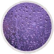 Raindrops On Window II Round Beach Towel