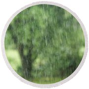 Rainfall Round Beach Towel