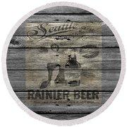 Rainier Beer Round Beach Towel