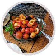Rainier Cherries - Yummy Round Beach Towel