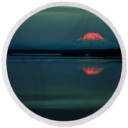 Rainier Dreaming Round Beach Towel