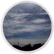 Rainless Rainbow Round Beach Towel