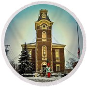 Raintree County Courthouse Round Beach Towel